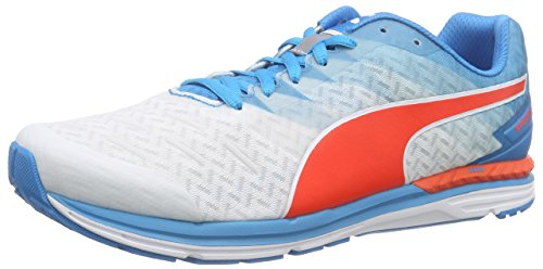 Puma Speed 300 IGNITE, Unisex Adults Running Shoes, Multicolor (White/Atomic Blue/Red Blast),...