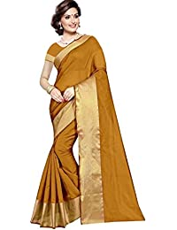 Sarees(Women's Clothing Saree For Women Latest Design Collection Fancy Material Latest Cotton Silk Sarees With... - B077HVKKC5