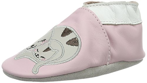 Robeez - Sleepy Kitty, Scarpine e pantofole primi passi Bimba 0-24 Pink (ROSE CLAIR)