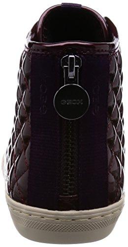 Geox A New Club D Hohe Sneakers Damen Bordeaux t1qwtrxB