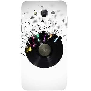 Casotec Vinyl Lp Design Hard Back Case Cover for Samsung Galaxy J7