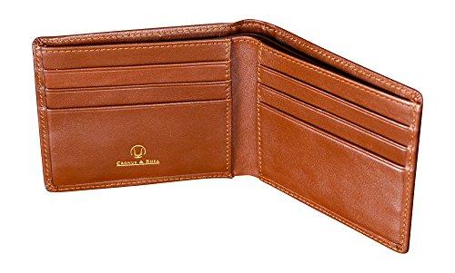 Cronus & Rhea®   Luxus Geldklammer aus exklusivem Leder (Ladon)   Kartenhalter - Kartenetui - Geldbeutel - Geldbörse   Echtleder   Mit eleganter Geschenkbox   Herren - Damen (Cognac)