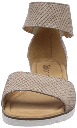 Gabor Shoes (Gabor), Sandales Compensées Bride Femme Or (Silk)