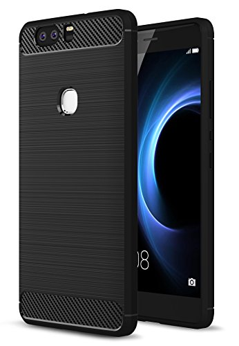 Honor 8 Hülle, IVSO Ultra Slim Silikon Rückseite Schutzhülle für Honor 8 Smartphone (13,2 cm (5,2 Zoll) ,Slim Schwarz