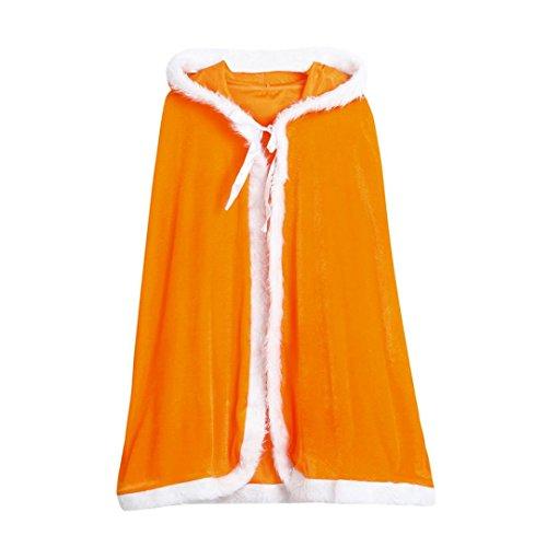 Dot Robe (Omiky® Kinder Weihnachten Kostüm Santa Kapuzen Cosplay Cape Robe für junge Mädchen (Orange))