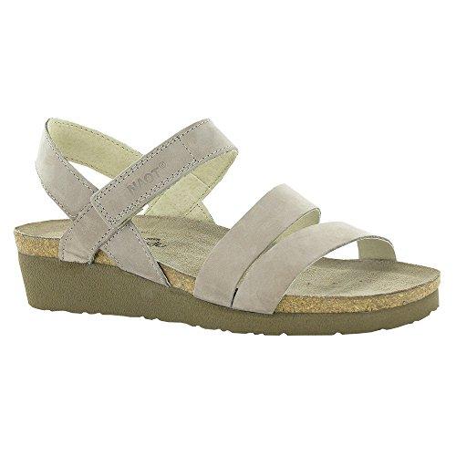 Naot Womens Kayla Nubuck Sandals Stone