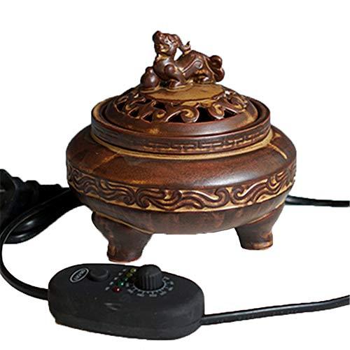 electric incense burner Weihrauch-Brenner - Timing-Temperaturkontrolle Elektronischer Keramik-Diffusor für ätherisches Öl - Agarwood Räuchergefäß für Zuhause/Büro / SPA - Verschiedene Optionen -