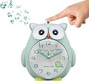 Lovely Cartoon Owl Alarm Clock Night Light Night Silent Bedroom Home Decor