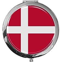 """metALUm - Extragroße Pillendose in runder Form""""Flagge Dänemark"""" preisvergleich bei billige-tabletten.eu"""