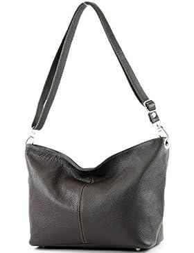 modamoda de - ital. Ledertasche Damentasche Umhängetasche Schultertasche Leder T157