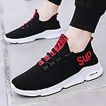 URBAN FOOT Men's Black Men's Eva Sole Series Mesh Smart Casual, Walking,Gymwear, Running Shoes
