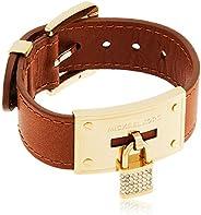 Michael Kors Women Cubic Zirconia Michael Kors Leather Bracelet