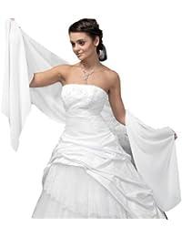 Châle en mousseline large pour robe de soirée/cocktail, tissu fluide et légèrement luisant