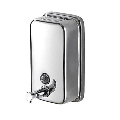 Seifenspender 304 Edelstahl Wandhalter Moderne Badezimmer Waschraum Flüssig Shampoo Dusche Seifenspender 1000ML WF-18021