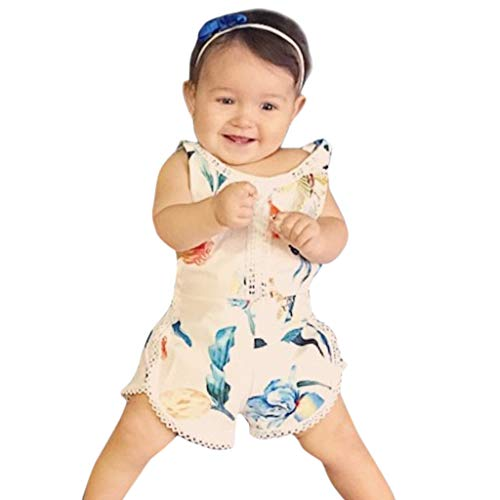 i-uend 2019 Baby Overalls - Infant Sleeveless Spielanzug Girl Boy Kid Baby Overall Floral Kleidung Outfits für 0-4 Jahre