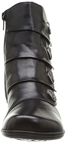 Nero 01 D1293 Stivali Posteriore Nero Donna nero qZz1wBO