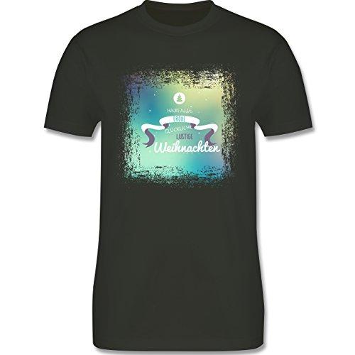 Weihnachten & Silvester - Frohe Weihnachten Bunt Vintage - Herren Premium T-Shirt Army Grün