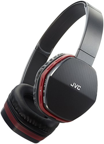 JVC HA-SBT5-R-E Bluetooth-Kopfhörer mit Bass-Boost Funktion rot/schwarz