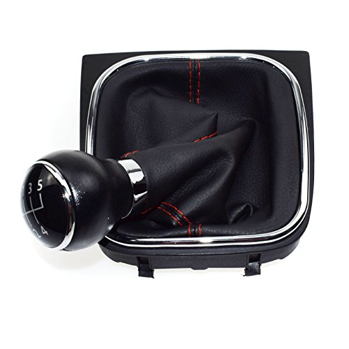 5 Speed manuel Pommeau de levier de vitesse en cuir pour VWS Golf Mk5 MK6 Jetta MK3 MK4 04 05 06 07 08 09 10 11 12 13 14 15 1 KD 711 113 A/1kd711113 a