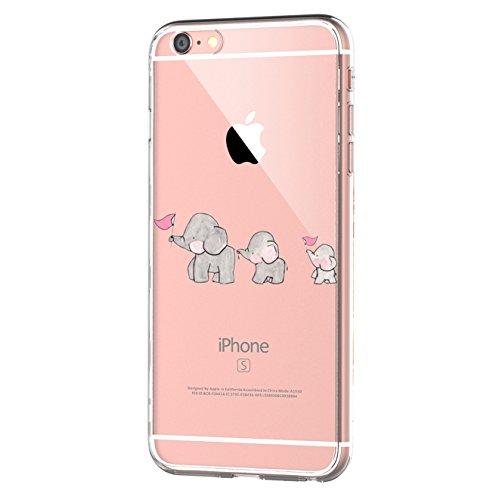 Qissy iPhone 6/6S Case Cover TPU IPhone 6 6s 4.7' Custodia Coperchio Trasparente Per la Copertura Della Cassa Silicone Schale Backcover Per Apple iiPhone 6 6s Creativa Design (iPhone 6 6s, 22)