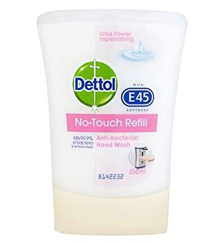 Dettol No Touch Recharge Anti-Bactérienne Fleur Lavage À La Main De Lotus Reconstituer 250Ml - Lot De 2