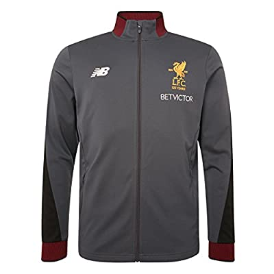 New Balance 2017/2018 Season Polyester Grey Mens Thunder Training Presentation Jacket NWT Available Sizes S,M,L,XL,XXL from LFC Official Store from Liverpool F.C.