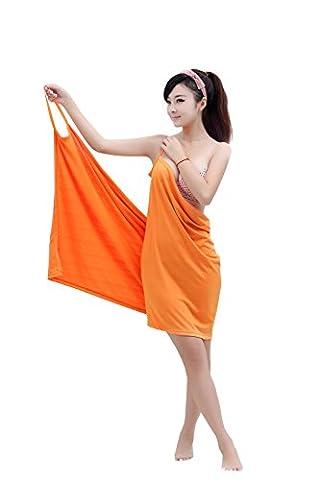 Dorapocket - Peignoir de bain - Fille Medium - orange - Medium