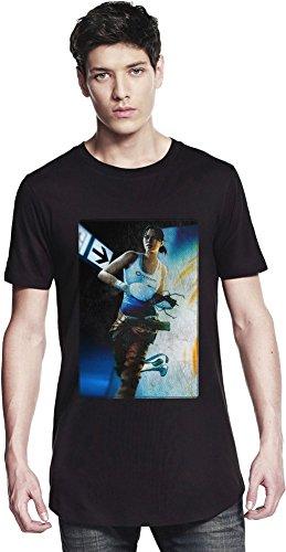 Portal 2 Running Girl Lange T-Shirt Medium