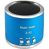Malloom® Reproductor MP3 TF tarjeta Micro SD Wireless USB Radio FM Mini Altavoz portátil (azul)