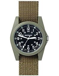 Bertucci 13362Unisex policarbonato marrón Nylon Band Negro Dial reloj inteligente