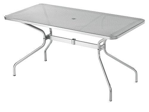 Table cambi rectangulaire cm. 140 x 80 Art. 808/aluminium Cod. 20