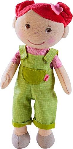 HABA 303732 - Kuschelpuppe Dorothea | Weiche Stoffpuppe zum Spielen und Kuscheln | Babys erste Puppe aus weichen, waschbaren Materialien | Geschenk zur Geburt oder Taufe | Größe: 25 cm - Für Puppen Mädchen 18