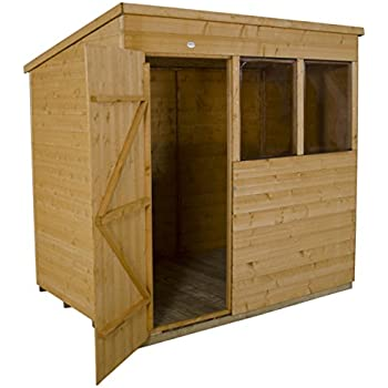 this item forest garden 6x4 pent shiplap garden shed dip treated