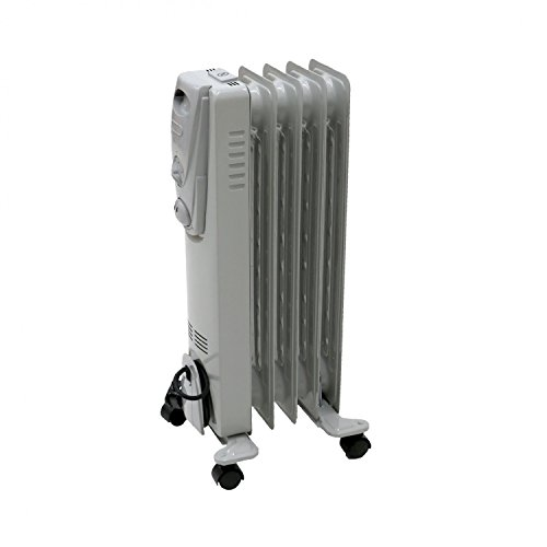 Oypla 1000W 5 Fin Portable Oil Filled Radiator Electric Heater