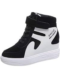 e51a6678ad4 Zapatillas de Cuña Plataforma Deportivo de Terciopelo para Mujer Otoño  Invierno 2018 Moda PAOLIAN Cómodos Zapatos
