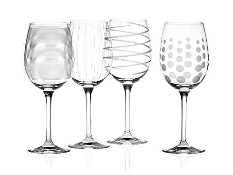 Creative Tops Mikasa Cheers Verres à vin blanc en cristal Lot de 4 Multicolore