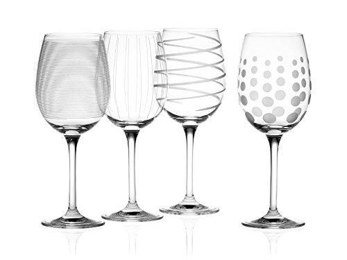 Diseños de la diversión y peculiar de la colección Cheers Set un ambiente festivo en cualquier reunión en el conjunto de 4es monocasco de cristal con un diseño todavía coordinar diferente cada uno. los puntos, líneas, y remolinos también son distint...