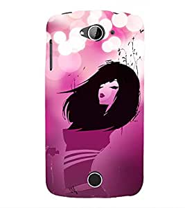 Pink Love Fashion Girl 3D Hard Polycarbonate Designer Back Case Cover for Acer Liquid Zade Z530 : Acer Liquid Zade Z530S