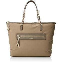 Tous Capazo Brunock Chain, Shopper para Mujer, Beige (Topo), 14x31x36 cm (W x H x L)