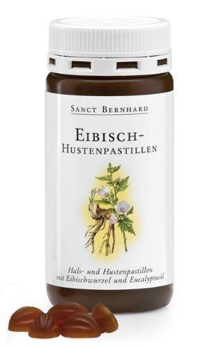 Sanct Bernhard Eibisch-Hustenpastillen mit Eibischwurzel, Eucalyptus, Anis, Fenchel 90 Stück