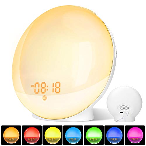 Wake Up Light, Luz Despertador LED Dual Relojes Alarma