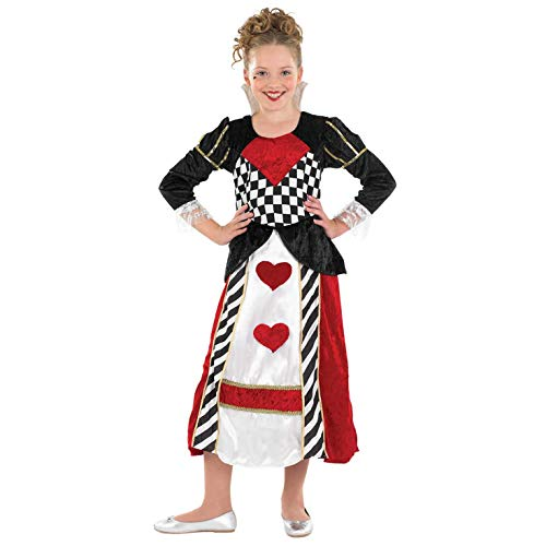 Queen Hearts Red Of Kostüm - Fun Shack FNK2971S Kostüm, Girls, Queen of Hearts, Größe S