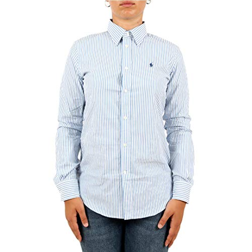 Polo ralph lauren camicia slim-fit stretch a righe donna mod. 211684070 6=42