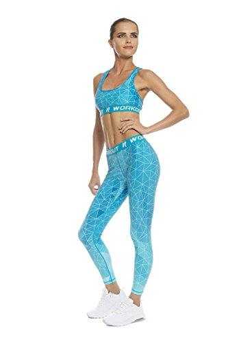 NESSFIT® - Leggings sportivi -  donna Blue Ocean