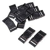 perfk 10 x Plastikschnalle Gurtband Schnalle Multifunktion Schnalle - 70x30mm