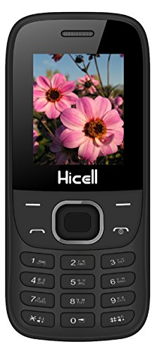 Hicell C1 Fox Basic Feature Mobile Phone With Dual Sim, 1.8 Inch Display, 1050 MAH Battery, FM Radio , Bluetooth, Torch, Digital Camera, SOS, Expandable Upto 16GB, BIS Certified And 1 Year Warranty (Black Green )