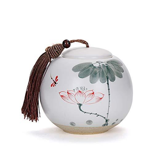 Celadon Von Hand Bemalt Tee Kann, Keramikplatten Pu-erh Tea Versiegelten Behälter, Lagerung Tank, Teeeimer, Für Süßigkeiten Muttern-e 10x10cm(4x4inch) -
