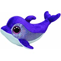 TY - Flips, peluche delfín, 15 cm, color lila (36712TY)