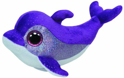"Beanie Boo Dolphin - Flips - Purple - 15cm 6"""