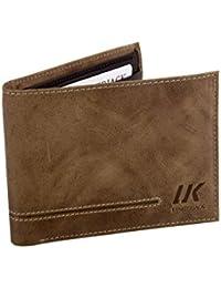 Cartera hombre LUMBERJACK marron cuero bolsillo zip tarjetas de credito A5656